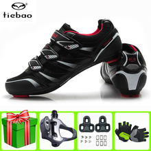 TIEBAO Road Cycling Shoes sapatilha ciclismo men add pedal set Professional sneakers women Outdoor Bicycle outdoor sports Shoes