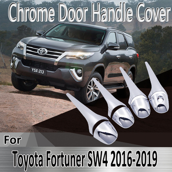 for Toyota Fortuner SW4 AN150 AN160 2016~2019 2017 Styling Stickers Decoration Chrome Door Handle Cover Refit Car Accessories image