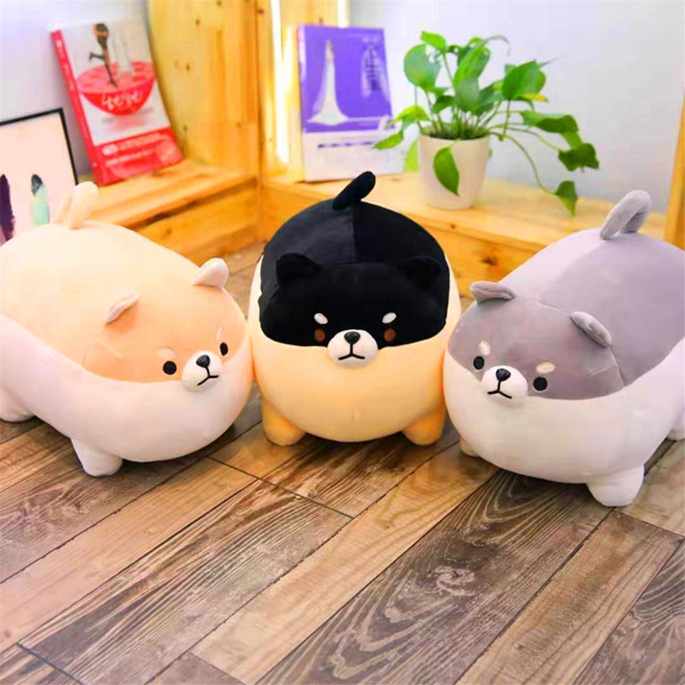 Bonito Chai Corgi Shiba Inu Dog Plush ToyS Stuffed Animal Macio Pillow Presente De Natal para Crianças Kawaii Presente Dos Namorados Nova 40/50cm