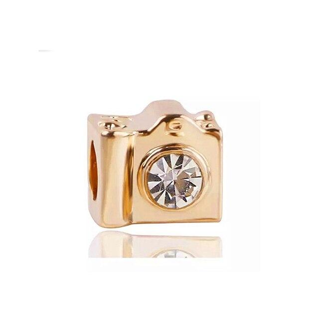 Boosbiy 2pc New Fashion European Gold Love Tree Lion Flower Crown Clip Beads Fit Pandora Charm Bracelet For Women Jewelry Gift