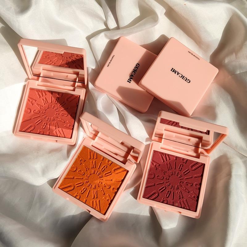 GUICAMI Bean Curd Blush Pearl With Flash Set Makeup Nude Makeup Natural Lasting Natural Orange