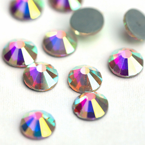 Image 5 - Poprawka Rhinestone SS20 AB 6 worków/log kryształ hot fix kamień żelazko na Rhinestone szycie ubrań strass kamienie flatback DMC kamień