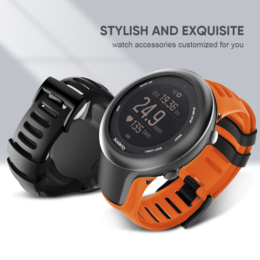 Soft TPU Watch Band Strap For Suunto Ambit 3 Sport TPU Wristbands Strap Replacement For Suunto Ambit 3 Smartwatches Accessories