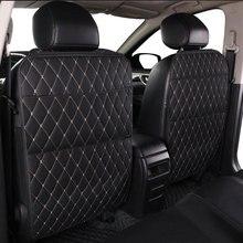 Auto sacchetto di immagazzinaggio del sedile PU nero In pelle Microfibra seggiolino auto anti kick pad universal Car interior per Toyota KIA lada Ford Hyundai
