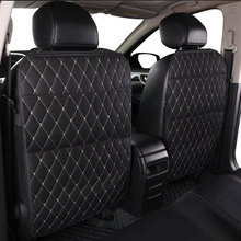 Car seat storage bag PU black Microfiber leather car seat anti kick pad universal car interior for Toyota KIA Lada Ford Hyundai