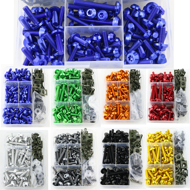Motorcycle Accessoties For YAMAHA YZF R1 R1M R15 R25 R3 R6 R125 YZF R6S YZF600R CNC Aluminum Full Fairing Bolts Kit Screws Nuts