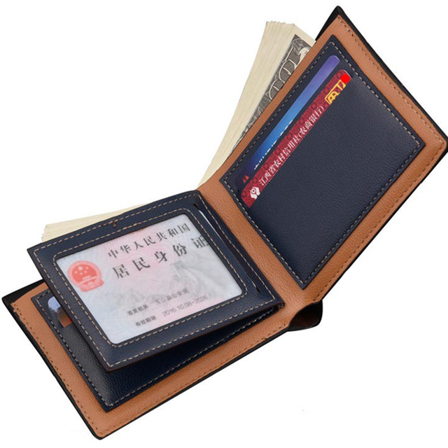 NO.ONEPAUL Purse For Boy Use Vintage Purses Wallets Men Walet Leather Men Wallet Money Bag Credit Card Holders Dollar Bill Walle