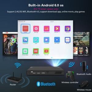 Image 4 - CRENOVA 2019 najnowszy mini projektor z WIFI Bluetooth (opcjonalnie 2G 16G) projektor z androidem do filmów 4k 3D Dolby Beamer
