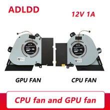 Laptop Cooling Fan DC12V 1A 4PIN For ASUS ROG Zephyrus S15 GX502 GX502LWS GX502GW GX502GV GX502LXS 13NR02U0T02011 13NR02U0T03011