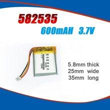 582535 3,7 V 600mAh Wiederaufladbare li lithium-polymer Batterie Für DVR Navigation Video Recorder DVR Cubex V50 HP F550g