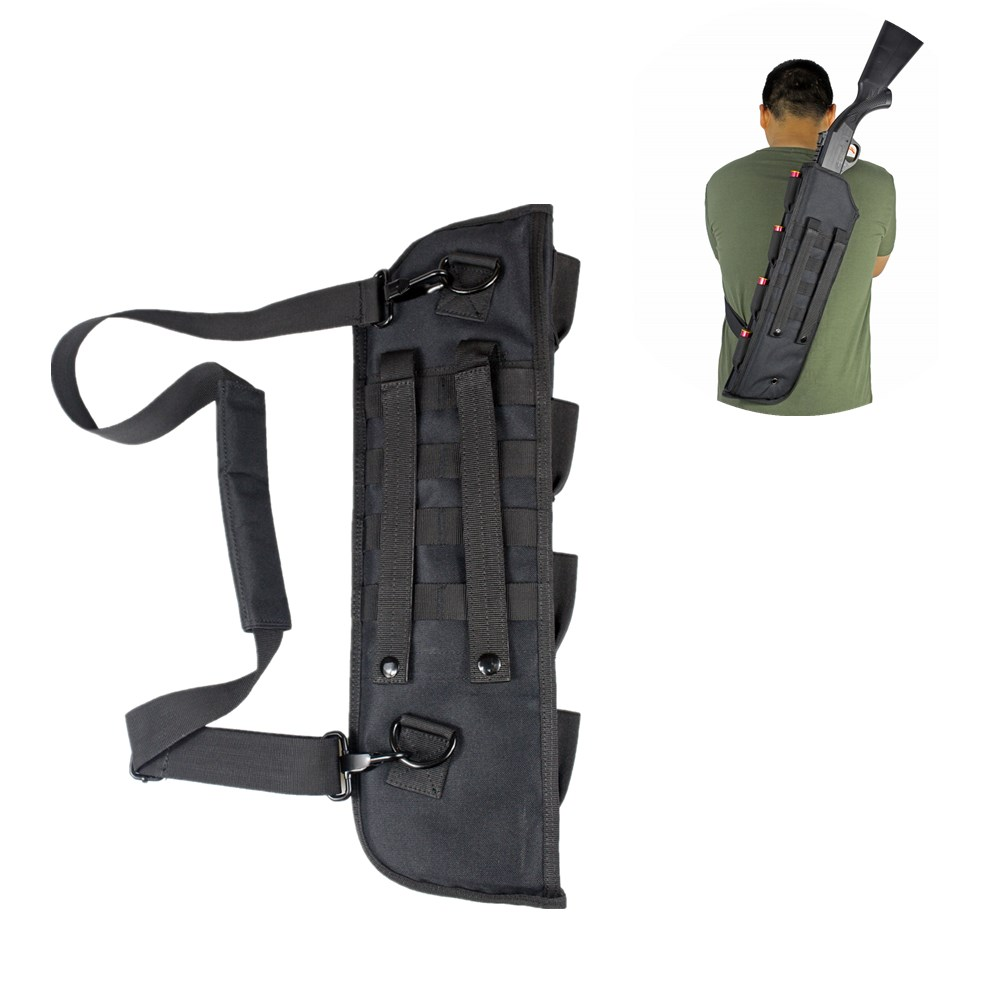 19 polegadas tatico shotgun bainha saco molle ombro sling caso acolchoado rifle coldre
