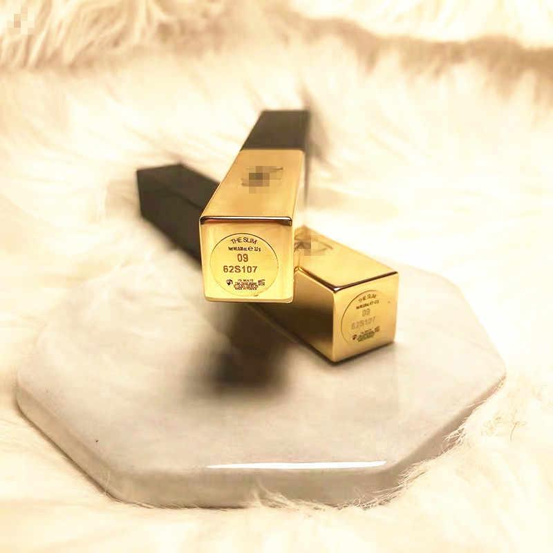 מט עמיד שפתון מנהג פרטי פופולרי צבע עמיד למים לחות שפתון כוכב סגנון זהב בר 21 צבעים