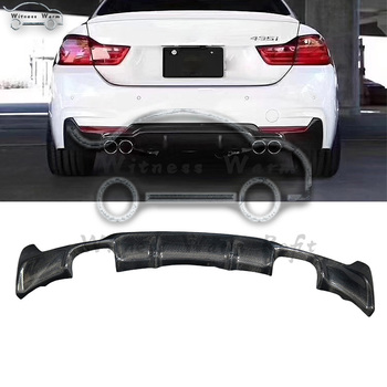 Carbon Fiber Rear Bumper Diffuser Lip for BMW F32 F33 2013 - UP 435i Bumper Lip Spoiler Exhaust four out MT sport bumper image