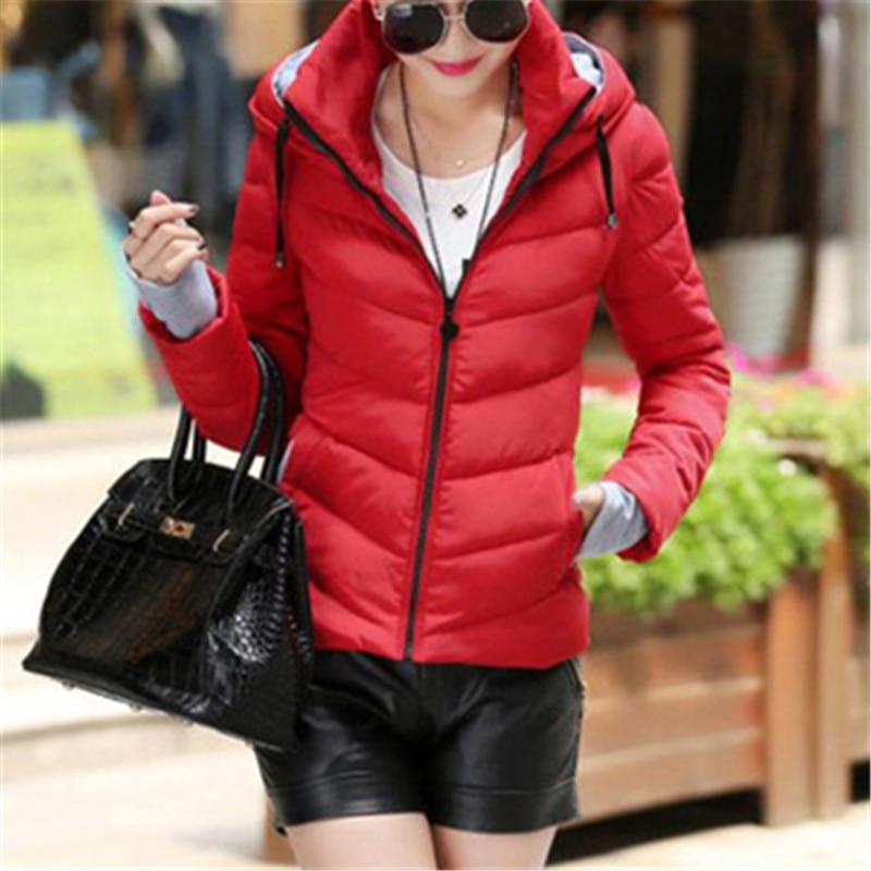 Женская зимняя куртка, пальто-пузырь, пальто с капюшоном, винтажная парка, стеганая куртка, Женская Стеганая куртка, женская красная дутая к...