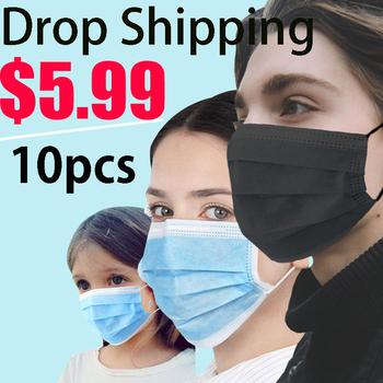 50 sztuk jednorazowe Coronavirus Anti koronavirus twarzy Corona Dental zanieczyszczenia powietrza wirus filtr maski przeciwpyłowe czarne dzieci maska ochronna na twarz tanie i dobre opinie Chin kontynentalnych Osobiste NONE Jeden raz Dla dorosłych Non-woven 17*9cm GB2626-2006 2-100