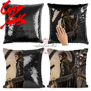 Dr. Otto Octavius sequin pillow | sequin Pillowcase | Two color pillow | gift for her | gift for him | pillow | magic pillow image