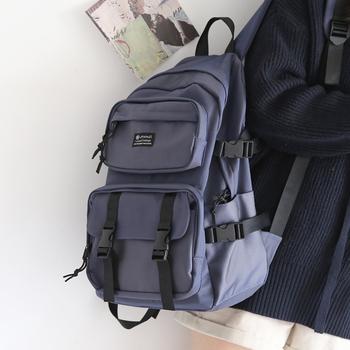 Modne fajne oprzyrządowanie plecak mężczyźni College kolorowe kobiety plecaki o dużej pojemności 15 6 Cal Laptop szkolne torby damskie tanie i dobre opinie good csat NYLON CN (pochodzenie) Żakardowe Unisex Miękka 20-35 litr Kieszeń na telefon komórkowy Wnętrza przedziału