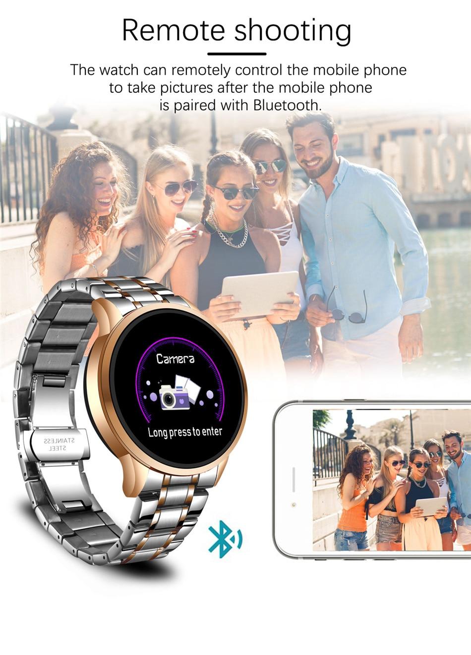 Hd4b1468af3fe4920bffc77848ed2d4deK LIGE 2020 New Smart Watch Men Heart Rate Blood Pressure Information Reminder Sport Waterproof Smart Watch for Android IOS Phone
