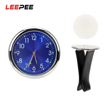 LEEPEE Car Electronic Clock Ornaments Luminous Quartz Clocks Air Outlet Decoration Analog Watch Auto Accessories Car-styling car clock ornaments auto watch air vents outlet clip mini decoration automotive dashboard time display clock in car accessories