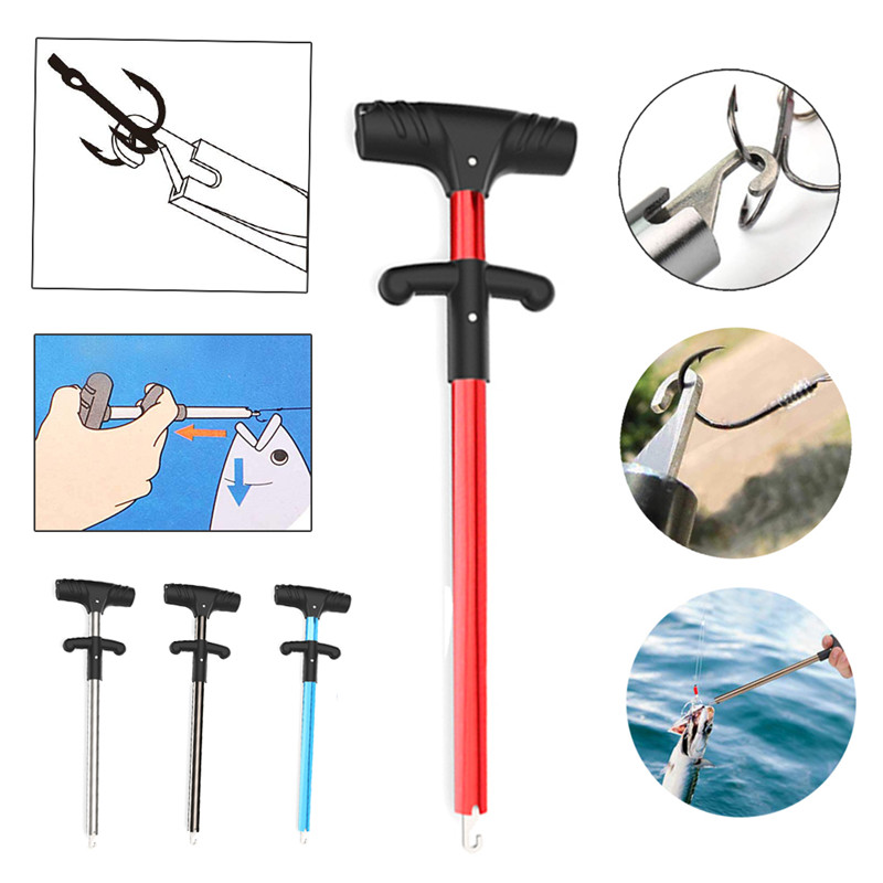 Fishing Easy Fish Hook Remover Squeeze-Out Fish Hooks New Fishing Tools Minimizing Injuries Aluminum Tube