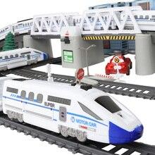Детский Радиоуправляемый поезд, модель, Электрический поезд, набор поездов, детский Железнодорожный Набор, игрушечный поезд, Электрический высокоскоростной железной дороги, игрушки для детей