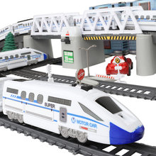 New Rc Trains Model Electric Train Set Trains Railway Set Remote Control Train Toy Electric High-Speed Railway Toys For Kids(China)
