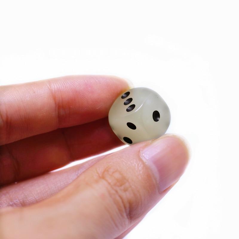 7 шт./компл. многогранные кости D& D4 D6 D8 D10 d% D12 D20 Прозрачный Многогранные TRPG игры Набор Игральный костей Настольная игра развлекательные кубики - Цвет: 1PC Luminous Dice