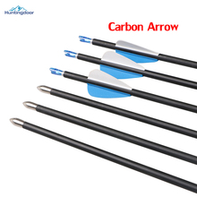 12pcs 31.5'' 6mm Hunting Arrows Archery Spine 800 Carbon Arrows for Recurve/Compound Bows Archery Hunting or Shooting