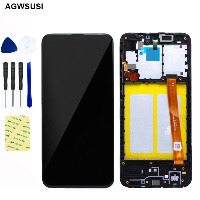 5.8'' For Samsung Galaxy A20e A202 A202F A202DS LCD Display Touch Screen Digitizer Assembly A202 A202F/DS A20e with frame Parts