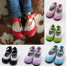 5cm Fashion Mini Toy Shoes for BJD Doll 1 Pair PU Leather Russian Handmade Accessories