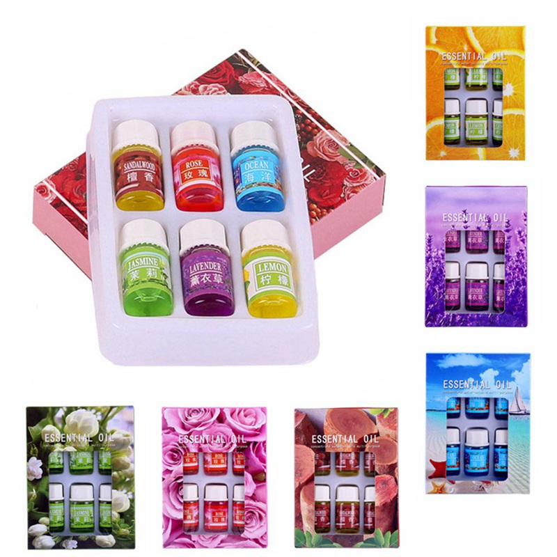 6pcs/set Essential Oil  For Aroma Humidifier  Fragrance Aromatherapy Oil Natural Spa Skin Care Bath Beauty Body