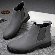 купить Men Chelsea Boots Ankle Boots Fashion Men's Male Brand Quality Slip Ons Motorcycle Man Warm Winter Boots Free Shipping дешево