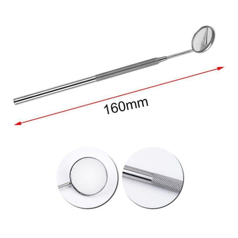 2pcs Stainless Steel Dental Mirror Instruments Mouth Oral Care Eyelash Extension Teeth Whitening Clean Tools Dental Mouth Mirror 1