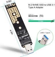 card reader Onvian M.2 NVME to USB Adapter M-Key M.2 NGFF NVME to USB 3.1 Card Reader 10Gbps M.2 USB Adapter for Windows XP 7 8 10, MAC OS (3)