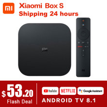 Oryginalny globalny Xiaomi Mi TV Box S 4K HDR Android TV 8.1 Ultra HD 2G 8G WIFI Google obsada Netflix zestaw Mi Box 4 odtwarzacz multimedialny(China)