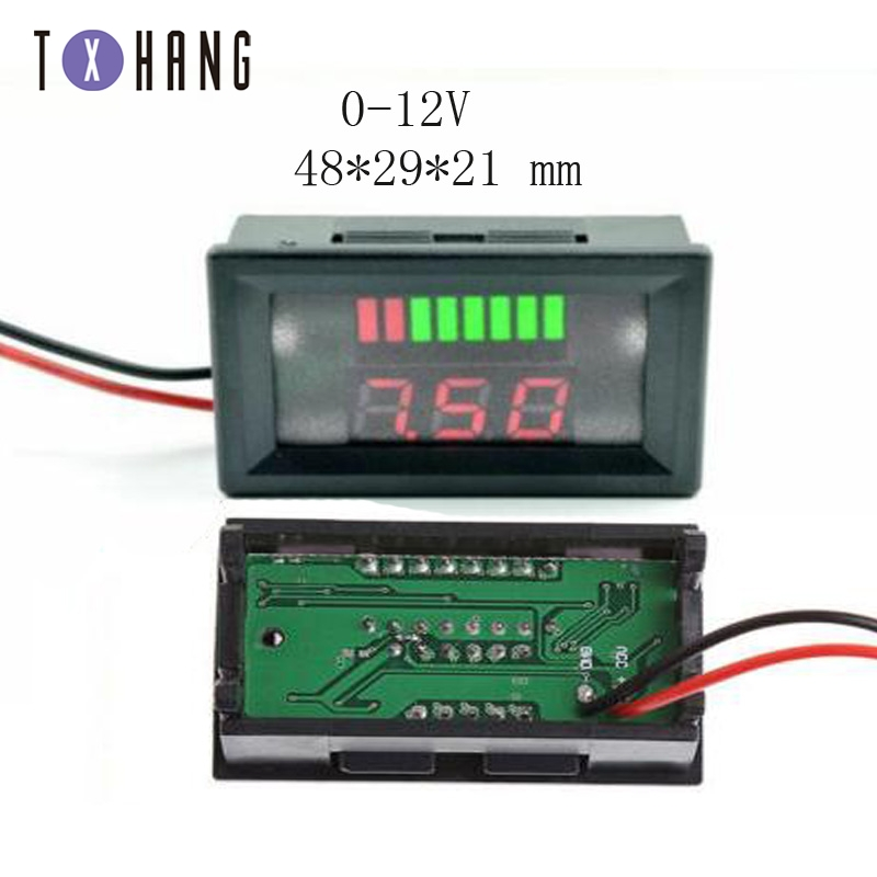 0.36/0.56 Pollici Mini Digital Voltmetro Amperometro Panel Amp Volt di Tensione Corrente Del Tester Del Tester Del Rivelatore Doppio Display a Led Auto auto