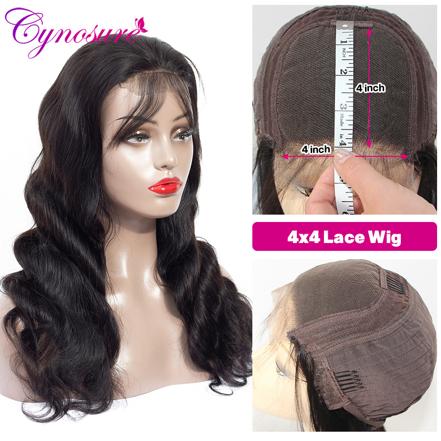Cynosure 4x4 Lace Front Human Hair Wigs Pre Plucked with Baby Hair For Black Woman Remy Innrech Market.com