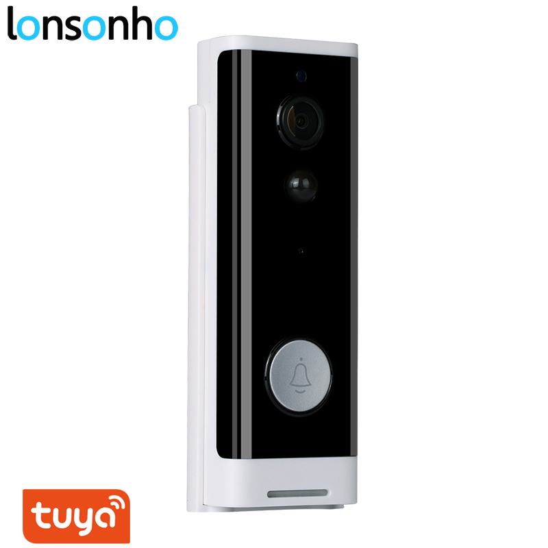 Lonsonho Smart Wifi Doorbell Camera Ring Door Bell Tuya Smart Life App Intercom PIR Motion Detector Night Vision Security Camera
