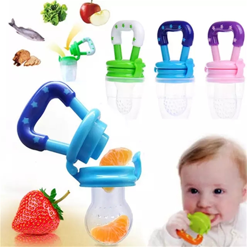 Baby Food Fruit Soft Nipple Feeder Safety Silicone Pacifier With 1pc Feeding Tool Teether