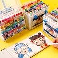 30/40/60/80 cor arte marcadores definir dupla cabeça artista escova desenho canetas esboço álcool oleoso baseado marcadores para animação manga