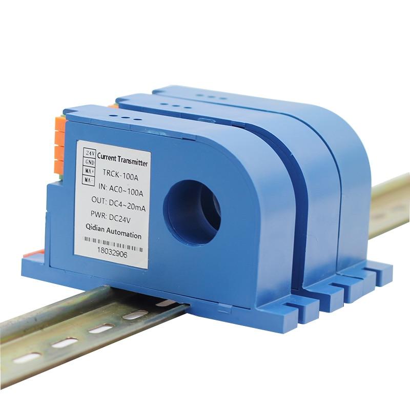 DC10A 20A 50A 600A Датчик тока передатчик 0-10V 0-20mA 4-20mA преобразователь выходного тока DC24V мощность