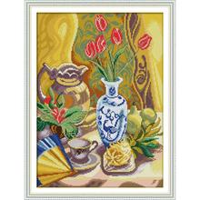 Joy Sunday Afternoon Tea Time Counted Cross Stitch Kits 11&14CT Cross Stitch Embroidery Needlework for Home Decor Handmade Gift joy sunday sweetnessand poetic counted cross stitch 11