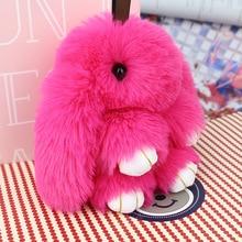 FXM cute mini rabbit character key bag mobile phone plush pendant toy keychain