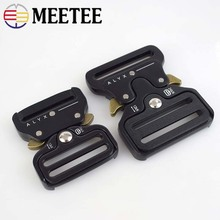 Meetee 38/45MM Webbing Metal Bag Strap Quick Side Release Buckle Shackle Belt Clip Clasp DIY Bags Clothes Accessories AP646