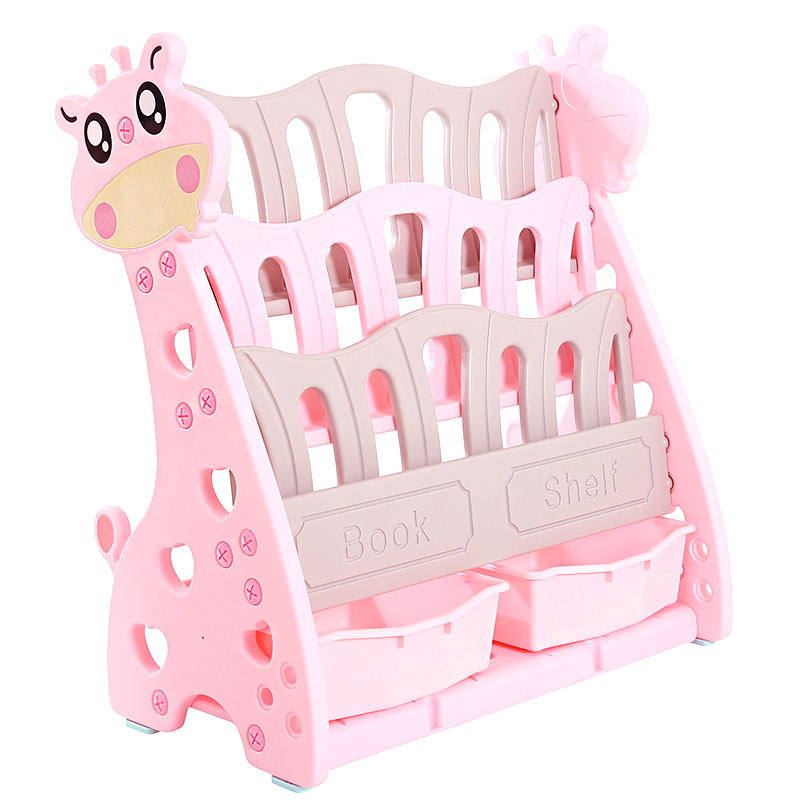 Children's Bookshelf Landing Baby Toy Receiving Rack Kindergarten Book Shelf Plastic Cartoon Picture Book Rack