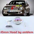 45 Millimetri Rotonda Centrale Cappuccio Laici Emblema Cofano B Apple Tree Star Logo Car Styling Modificato Distintivo per Mercedes Benz lorinser Amg Brabus