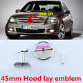 45mm Round Middle Hood Lay Emblem Bonnet B Apple Tree Star Logo Car Styling Modified Badge for Mercedes Benz AMG Lorinser Brabus