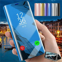 Luxury Smart Mirror Flip Phone Case For Xiaomi Mi 9T Pro 9 8 SE Clear View Kickstand Redmi K20 Leather Capa