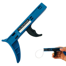 Cable Tie Gun Fastening Cable Tie Tool Die-Cast Steel Flush Cut Zip Tie Gun with Steel Handle for Nylon Cable Tie