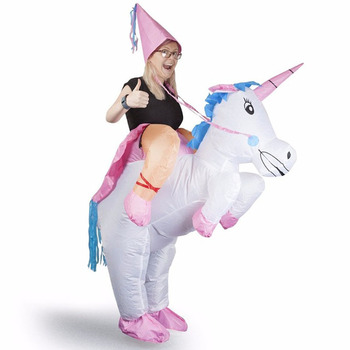 Inflatable Unicorn Costumes adult kid Halloween Christmas Ride on Carnival party Costume Stage Performances Props Cosplay Dress pikaalafan giant inflatable toy christmas bar party costumes riding elk inflatable performance costumes puppet stage costumes